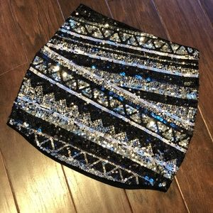 Sequin Party Mini Skirt Express Brand Size XS